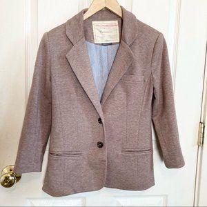 Anthropologie Cartonnier Button Jacket Blazer Heathered Brown Size Extra Small
